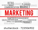 marketing word with business... | Shutterstock . vector #723506902