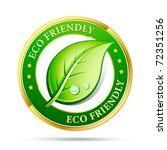 eco friendly website icon | Shutterstock .eps vector #72351256