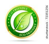 eco friendly website icon | Shutterstock .eps vector #72351256