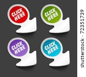 vector click here message icon... | Shutterstock .eps vector #72351739