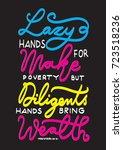 hand lettering lazy hands make... | Shutterstock .eps vector #723518236