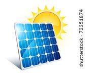 solar panel icon | Shutterstock .eps vector #72351874