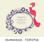 cute frame design for greeting...
