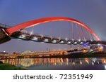 Colorful Bridge Over River In...
