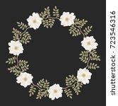 elegant round floral border... | Shutterstock .eps vector #723546316