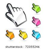 hand cursor set    Shutterstock .eps vector #72355246
