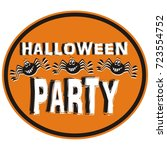 halloween party  tag  vector... | Shutterstock .eps vector #723554752