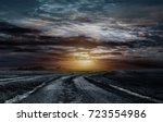 road to the sky  | Shutterstock . vector #723554986