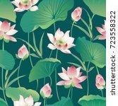 Vector Seamless Pattern Lotus...