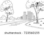street road graphic black white ... | Shutterstock .eps vector #723560155