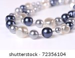 Pearl beads - stock photo