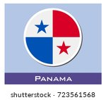 panama flag icon | Shutterstock .eps vector #723561568