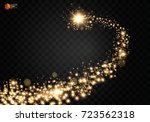 cosmic glittering wave. gold... | Shutterstock .eps vector #723562318