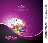 vector illustration on a casino ... | Shutterstock .eps vector #723562846