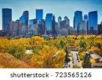 downtown. calgary. alberta.... | Shutterstock . vector #723565126