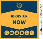 register now button | Shutterstock .eps vector #723568276