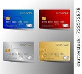 modern credit card set template ... | Shutterstock .eps vector #723572878