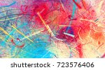 bright color fireworks.... | Shutterstock . vector #723576406