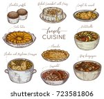 french cuisine. collection of... | Shutterstock .eps vector #723581806