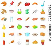 master icons set. cartoon style ... | Shutterstock .eps vector #723587092