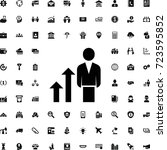 career growth icon. set of... | Shutterstock .eps vector #723595852