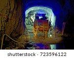 mining underground jumbo  a...   Shutterstock . vector #723596122
