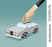 saving for car | Shutterstock .eps vector #723599176