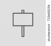 signboard vector icon eps 10.... | Shutterstock .eps vector #723600256