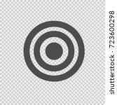 target vector icon eps 10.... | Shutterstock .eps vector #723600298