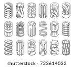 set of 3d geometric shapes... | Shutterstock .eps vector #723614032