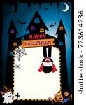 happy halloween template design ... | Shutterstock .eps vector #723614236