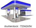 gasoline station on a white... | Shutterstock . vector #72362656