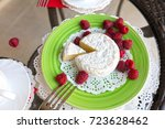 soft wite cheese and... | Shutterstock . vector #723628462