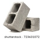 gray cement cinder block... | Shutterstock . vector #723631072