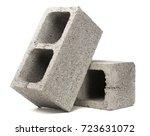 gray cement cinder block... | Shutterstock . vector #723631072