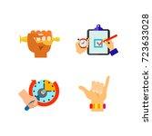 hand symbol icon set   Shutterstock .eps vector #723633028