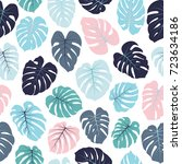 floral jungle ornament with... | Shutterstock .eps vector #723634186