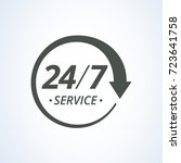 24 7 service icon | Shutterstock .eps vector #723641758