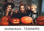 family mother and children in... | Shutterstock . vector #723646492