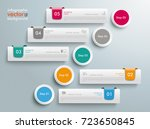 infographic design with 5 tabs... | Shutterstock .eps vector #723650845
