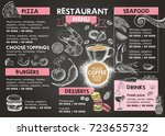 restaurant cafe menu  | Shutterstock . vector #723655732