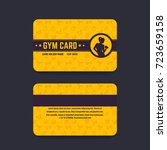 fitness club  gym card vector... | Shutterstock .eps vector #723659158