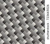 vector seamless geometric... | Shutterstock .eps vector #723665026