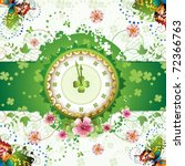 Clock Design With St. Patrick\'...