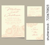 templates of invitation lace... | Shutterstock . vector #723670825