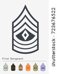 military ranks and insignia....   Shutterstock .eps vector #723676522