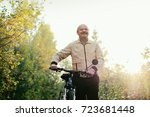 senior caucasian man go for a... | Shutterstock . vector #723681448