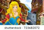 cartoon scene of beautiful... | Shutterstock . vector #723682072