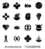 nature icons set | Shutterstock .eps vector #723688048