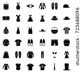 clothes icons | Shutterstock .eps vector #723688096